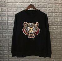 Mode-Tiger-Kopf-Sweatshirts Bestickte Pullover Pullover Hemden Jumper Herbst Frühling Unisex Pullover Casual Streetwear Hohe Qualität