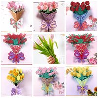 Mothers Day Greeting Cards Postcard 3D POP UP Flower Thank You MOM Happy Birthday Invitation Customized Gifts Wedding Paper EWD6814