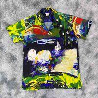 Men Women 1:1 High Quality Digital Printing Tees Streetwear Oil Painting Shirt