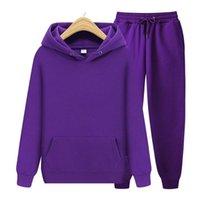 Men's Hoodies & Sweatshirts Sets Hoodies+Pants Winter Hooded Sweatshirt Sweatpants Suit Fashion Women 2 Pcs Set Hoodie Pant Hip Hop Pullover