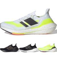 Ultra 2021 Primeknit Knit Mens Running Shoes Núcleo Preto Solar UB2021 Espessura Sola Sole Sapato Atlético Jogging Triplo Branco Mulheres Esportes Andar Sapatilhas FY0306 FY0377