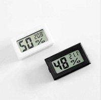 Thermomètres ménagers Noir / Blanc FY-11 Mini Numérique Environnement LCD Environnement Thermomètre Hygromètre Humidité Température Compteur dans la chambre Réfrigérateur Icebox VA3Y
