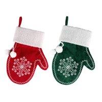 Decorazioni natalizie Caramelle regalo sacchetti di regalo di Natale Xmas Snowflake Gloves Pendenti Albero Pendente Appeso Ornamenti a sospensione GRATIS DHL HH21-686