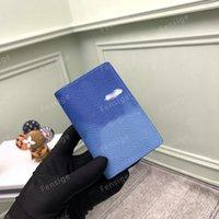 Portafoglio Designer per Mens Blue Sky Cloud Canvas Cowhide-Leather Coin Borse Borse Differenti POUCHE MINI PACOLPLE CLUPPA Borsa M69679 con scatola