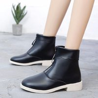 Boots Autumn front zipper ankle boots for women shoes woman winter martin students in heels sexy ladies ASLU