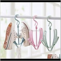 Laundry Storage & Organization Balcony Hangers For Shoes Hanging Shoe Rack Small Windproof Drying Hook Spiral Hanger Anifq L3Nbj