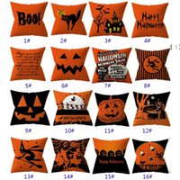 32 Styles Halloween Pillowcases Cover Throw Pillow Cushion Pillow Case Cover For Striped Dot Home Car Decoration Christmas BWB10433