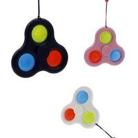 Basit Dimple Parmak Oyunu Bileklik Anahtarlık Yaratıcı Push Pop It Fidget Oyuncaklar Basın Kabarcık Müzik Havalandırmak için Daha az Kordon Anahtarlık Oyuncaklar GG33H8GL