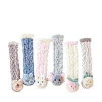 Baby Socks Newborn Booties Kids Boys Accessories Autumn Winter Infant Stockings Keep Warm Cute Toddler Wear Velvet Cartoon Floor Shoes 0-3T B8825