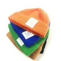 모자 가을 겨울 돔 힙합 레이블 레터 조수 브랜드 남성과 여성의 봉제 그물 레드 뜨개질 양모 eyja
