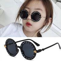 Мода маленькие круглые детские солнцезащитные очки бренда дизайнер пчелы детские мальчики девочки девочки outdoors goggle оттенки очки