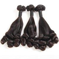 Doppi capelli disegnati capelli Duchessa Riccia Nero Nero Nero Brasiliano Brasiliano Virgin Virgin Human Remy Capelli Tessuti da 8-18 pollici