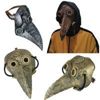 Festa Máscara Steampunk Long Bico Medieval Preto Morte Praga Doctor Halloween Cos Adereços