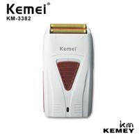 Kemei KM-3382 Erkekler Kadınlar için Elektrikli Tıraş Makinesi Blade Su Geçirmez Pistonlu Akülü Razor USB Şarj Edilebilir Tıraş Makinesi Giyotin 3382