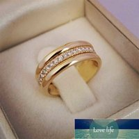 Simple Gold Ring Jewelry Copper-plated Fashion Ring Women Wedding Trendy Jewelry Dazzling Micro Paved Stone Large Modern Rings Factory price expert design Quality
