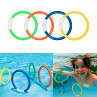 Pool & Accessories 1set Kids Diving Rings Set Toys Colorful Underwater Swimming Sinking For Children Toy Adults