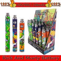 R et M Batterie de préchauffage de dessin animé 650mAh / 900mAh / 1100mAh 3 dans une tension variable de cigarette E 510 Tension de cigarette pour les huiles épaisses Atomiseur