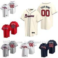 2021 Baseball Jersey Atlanta 20 Marcell Ozuna Jersey 5 Freddie Freeman Brave 7 Dansby Swanson 13 Ronald Acuna Jr. 1 Ozzie Almies Mike Soroka