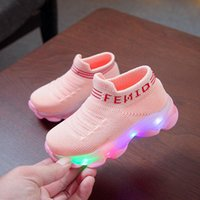 Repair Tools & Kits Kids Sneakers Children Baby Girls Boys Letter Mesh Led Luminous Socks Sport Run Shoes Sapato Infantil Light Up