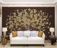 Wallpapers AINYOOUSEM Fashion Beautiful Golden Embossed Lines Background Wall Papier Peint Papel De Parede Wallpaper 3d Stickers