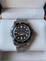 Haute Qualité Vintage Homme Montre Horloge Mouvement mécanique Mouvement automatique Montres en acier inoxydable 40mm Noir Verre Hardlex Glass Retro Style 179