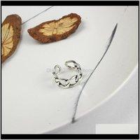 Anéis de casamento entrega 2021 xiagao 925 esterlina retro cadeia oca adujustable anel abrindo senhora vintage moda sier jóias CNR133 D18