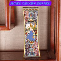 Artesanías, antigua descripción clara de oro, color de esmalte, figuras, flores y aves, botellas, sala de estar china, adornos de porcelana