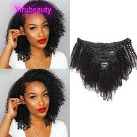 Malaysian Human Virgin Hair Extensions Afro Kinky Curly Clips In 8-24inch Straight Deep Wave Yaki Natural Color Remy Products 3PCS