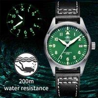 Adies Dive Men's Watch Aço Inoxidável C3 Luminous AR Coated Sapphire Cristal 200m À Prova D 'Água Relógio Mecânico Automático Mergulho 210407