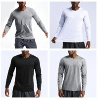 lulu shirts autumn mens yoga align legging top solid color t shirt men gym sport running casual loose leggings clothing quick dry long sleeve pullover breathabl p8h2#