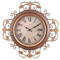 Duvar Saatleri Avrupa Tarzı Retro Oturma Odası Yaratıcı Saat Kolye Işık Lüks Dilsiz Dekoratif