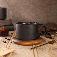 Cups & Saucers European Creative Ceramic Black Cup Coffee Porcelain Teacup And Saucer Vintage Mug Reusable Taza Espresso Set BD50BD