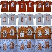 NCAA 2020 Texas Longhorns Football 11 Sam Ehlinger 7 Shane Buechele 10 فينس يونغ 20 إيرل كامبيل 34 ريكي ويليامز السكر السلطانية 150 الفانيلة