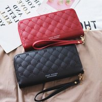 Bag Long Phone Trend Retro Wallet Simple Fragrance Large-capacity Mobile Ladies Small Korean Rhombus Zipper Kwqru
