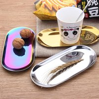 Accessories Colored Stainless Large cigarette tray Accommodating Discs for Smoke Rolling Herb Tobacco Grinder Heated cake Jewelry towel dessert items storage