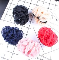 & Barrettes Jewelrybarrettes Jewelry Korean Clips Women Chiffon Rose Flower Bow Jaw Clip Barrette Claw Hair Aessories Gift Drop Delivery 202