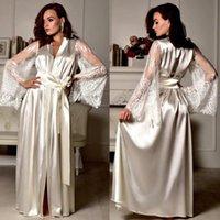 Mulheres vestido vestido sexy v pescoço cetim robe bandagem sleepwear nightgown seda babydoll sono suave vestidos maxi casual