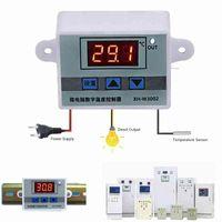 XH-W3002 Controlador de temperatura digital LED CA 110V 220V 12V 24V Regulador de termostato de 24 V 10A Interruptor de enfriamiento de calefacción DWJG #