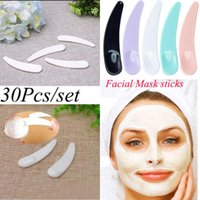 Eyebrow Tools & Stencils 30pcs Mini Cosmetic Plastic Spoon Disposable Facial Mask Makeup Maquillage Equipment Face Beauty