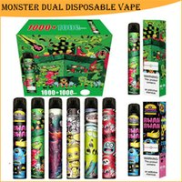 Monster Dual E-Cigarette Disposable Vape Pen Device Switch 2 in 1 2000 Puff 6.0ml Pods Vapes