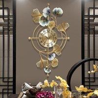 Wall Clocks Home Living Room Ginkgo Leaf Clock Creative Mute Decoration Watch