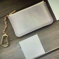 키 파우치 M62650 Pochette Cles 지갑 패션 Womens Mens Keyring 신용 카드 홀더 코인 지갑 럭셔리 디자이너 미니 지갑 매력 부속품 상자