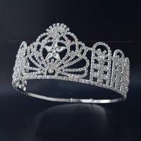Pageant Crown Miss Teen USA Hohe Quanlity Strass Tiaras Braut Hochzeit Haarschmuck Zubehör Verstellbares Stirnband MO231