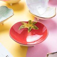Piatto del piatto del dessert della ceramica della ceramica in stile giapponese in stile giapponese per gli snack Organizzazione di stoccaggio della cucina della frutta