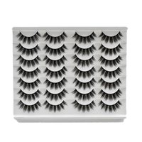 Yanlış Kirpikler 14 Pairs 3D Sentetik Saç Lashes Doğal Dramatik Hacim Sahte Makyaj Kirpik Uzatma İpek E02