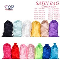 Custom Packaging Bags Dust for Shoes Packet Cosmetics Underware Hair Satin Make up Size FB8B