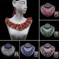 Earrings & Necklace Fashion Luxury Bridal Jewelry Sets Wedding Earring For Brides Party Prom Costume Accessories Decoration Women Gift