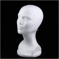 Kafalar 3x Kadın Köpük Manken Kafa Peruk Yapma Ekran Standı Şapka Tutucu Beyaz TGXM3 FZXEO