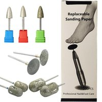 Diamond Nail Drill Bit Sanding Band Paper Rotary Burr Foot Rasp Cuticle Cutter Pedicure Tool Accessories Mill Manicure Feet File Art Equipme
