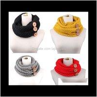 5 colores 6030 cm invierno cálido infinito bufanda de lujo mujeres sólido color de crochet patrón grueso grande botón anillo CCA10210 R6LWG Magic Berveve A0FCQ